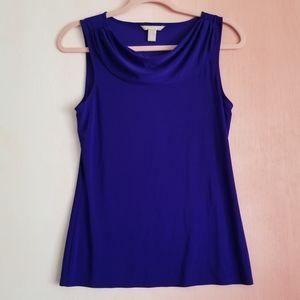 BANANA REPUBLIC Purple Cowlneck Top